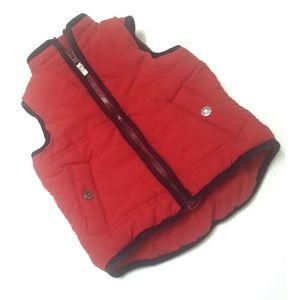 Size 2T Carter's Zip Front Red/Navy Puffer Vest